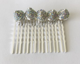 Crystal Spikes Comb, for weddings, parties, evening, cocktail, special occasions