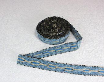 Woven Trim (6 yards), Woven Border, Cotton Ribbon, Grosgrain Ribbon, Dress Border, Border Trim, R178