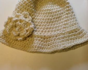 White Cloche Hat - Ready to Ship