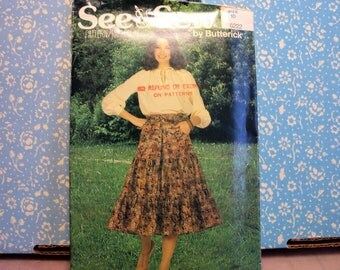 Sewing pattern, Three tiered skirt with zipper--good pattern to learn sewing techniques, womens skirt
