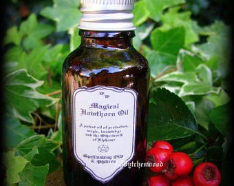 Magical Hawthorn Oil 25ml: Witchcraft, Magic, Wicca, Pagan