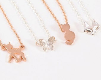 FOXY >> silver fox silhouette necklace << cute as a button yet sexy as hell << proceeds donated to Humane Society