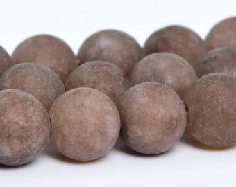 "8MM Matte Coffee Brown Jade Natural Gemstone Full Strand Round Loose Beads 15"" BULK LOT 1,3,5,10 and 50 (101063-329)"