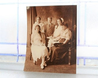 Edwardian Family Photograph Vintage 1900s