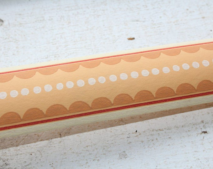 Vintage 1950s Wallpaper Border Brown and White Unused Wall Paper