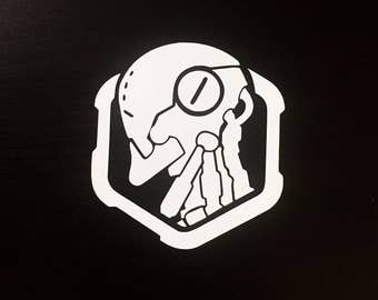 Zenyatta Profile Spray Overwatch Decal | Sticker | Vinyl | Car, Wall, Window or Laptop Decoration | Cute!