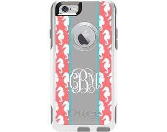 Sea Horses Personalized Custom Otterbox Commuter Case for iPhone 6 and iPhone 6s