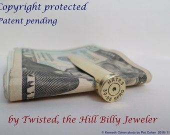 The Original Long Rifle Bullet Money Clip { New & Improved! } Rifle , Country Style, Father, Husband, Groom, BFF, Brother, Son, Hunter, Boss