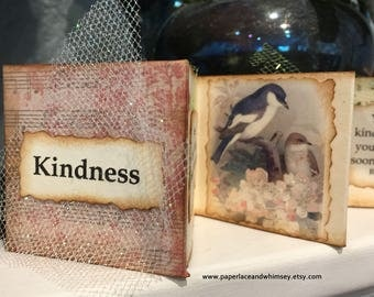 Altered art book - Kindness - mini accordion booklet