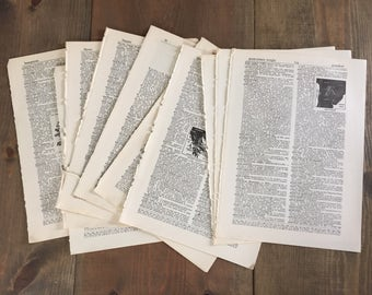 25 Vintage Dictionary Pages