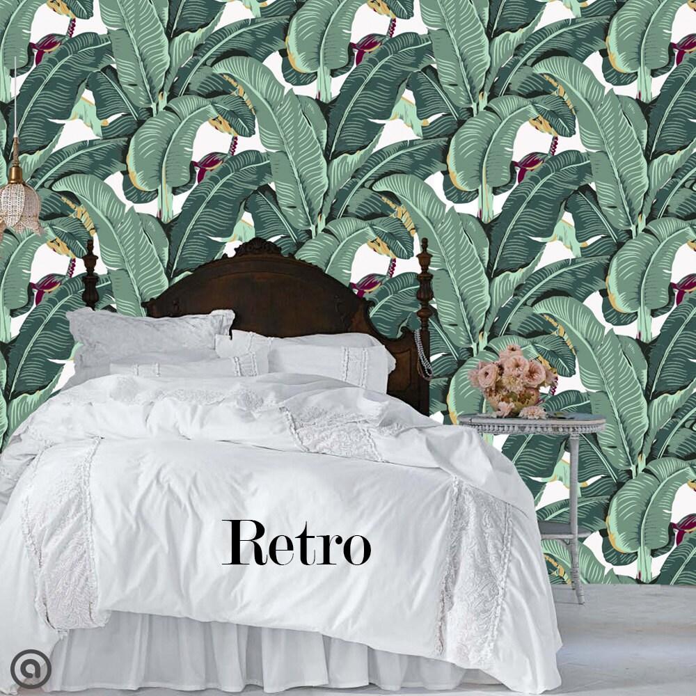 banana leaf removable wallpaper peel u0026 stick self adhesive