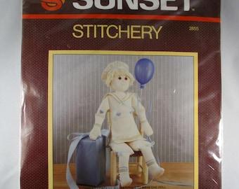 1984 Sunset Stitchery Christopher Doll Kit 2855