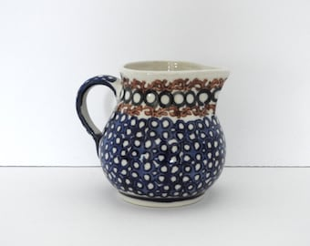 Boleslawiec Polish Pottery Creamer- Small Pitcher