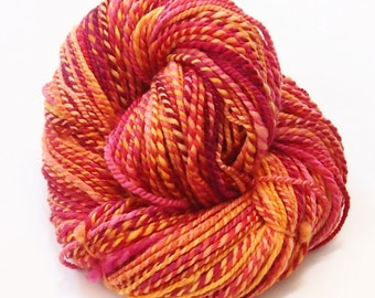 Worsted weight Handspun 2-ply yarn - Polwarth - 175 yards of handspun 2-ply yarn - 4 ounce skein