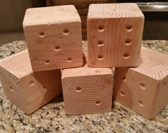 "Jumbo Dice Set - unstained, oversized 3.5"" x 3.5"" dice"