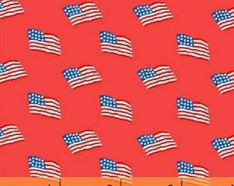 Windham - Storybook Americana - Flags - Red