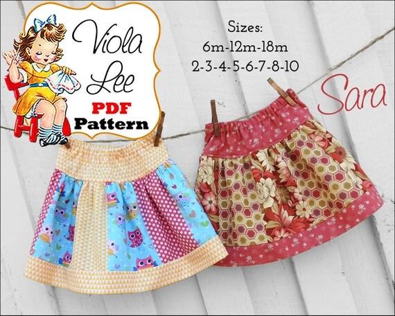 Sara, Girls Skirt Pattern, Ruffle Skirt Pattern, Toddler Skirt Pattern. Girls Sewing Patterns. Infant Skirt Pattern, Toddler Sewing Patterns