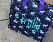 Terrific Tuesday FLASH SALE!!!!Personalized Monogram Unicorn Tote Storage Bag