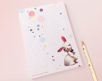Notebook Confetti Bunny - illustrated stationery