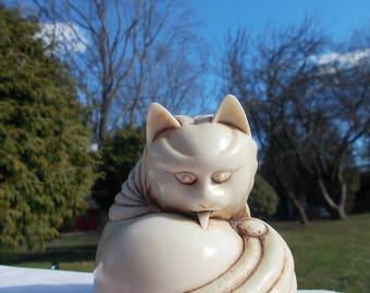 Very Unique CAT FIGURE Asian Style Form