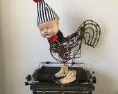 Reserved Chicken Little art doll assemblage