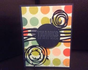 Circle thank you card