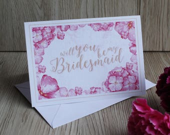 Will you be my Bridesmaid? - Card
