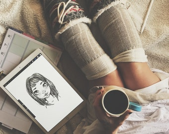 Custom Pencil Drawing, JPG, Download