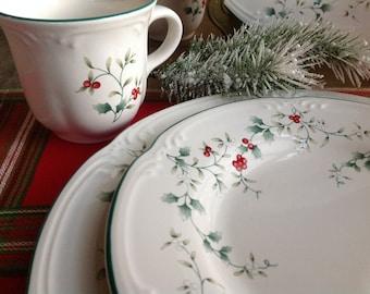 Pfaltzgraf Winterberry Dinner Plates (8) Salad Plates (4) and Cups (8) Beautiful 20 piece set