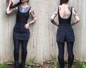 Vintage Jordache Black Denim Skort High Waisted Xs