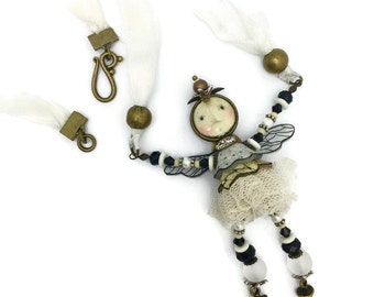 Fairy necklace an on line class and kit by julie haymaker