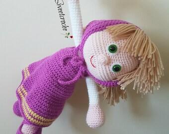 Amigurumi Doll Masha The Russian Girl Crochet Toy  Masha and Bear Masha Toy - READY TO SHIP -