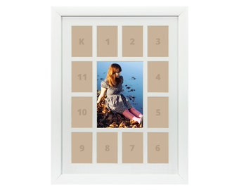 craig frames 12x16 inch white picture frame single white collage mat with 13 openings 622121601c32a