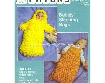 Vintage Knit Babies Sleeping Bags B048 PDF Pattern from WonkyZebraBaby