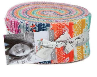 """Early Bird by Kate Spain Fabric Bundle - Jelly Roll - 2.5"""" strips - 40 pieces"""