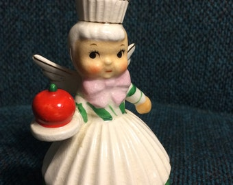 Shafford Japan Angel holding an apple