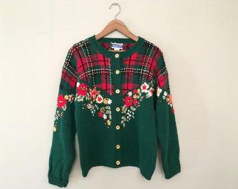 On Sale!!! Vintage Pendleton Knockabouts Christmas Cardigan