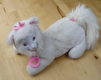 Vintage Kitty Surprise Pink White Cat Stuffed Animal Toy Hasbro 1992 *NO KITTENS*