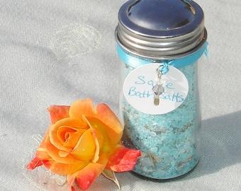 Sage Herbal Bath Salts in Glass Jar