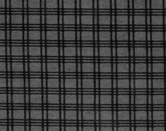 Premium Quilter's Flannel - Windowpane Gray Black - 32 inches