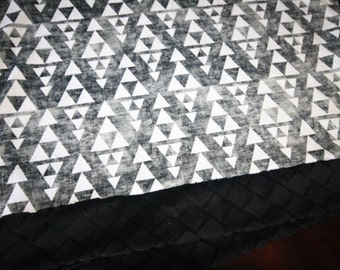 Aztec Tribal Baby Boy Blanket - Baby Boy MINKY Blanket, Minky Baby Blanket, Arrows Baby Blanket, Ready toShip Baby Blanket, Grunge Triangles