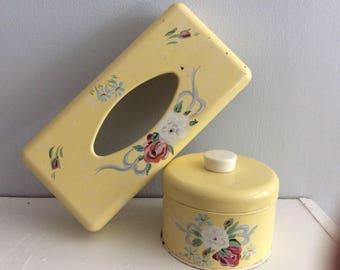 Vintage Ransberg Yellow Bathroom Set
