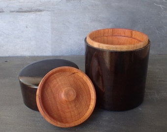 Turned Cherry Tea / Herb Canister