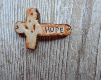 sideways cross  Hope