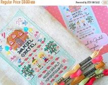HALLOWEEN SPECIAL SALE Hansel and Gretel Fairy Tale Cross Stitch Pattern - Kawaii Cross Stitch Pdf - Cross Stitch Sampler
