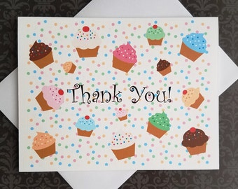 Cupcake Explosion, Thank You Cards, 8ct