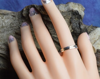 Textured Stacker Rings in Argentium Sterling Silver