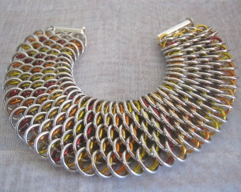 Dragons Breath Bracelet Chain Maille Aluminum  Jewelry