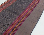 Handprinted Batik  cotton Vintage Style New fabrics, Hmong, Table runner- from Thailand