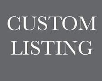 Custom Listing for Jennifer- Shipping